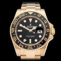 Rolex GMT-Master II 18k Yellow Gold Gents 116718LN - COM1255