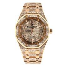 Audemars Piguet Royal Oak Selfwinding  Custom Set Diamonds...