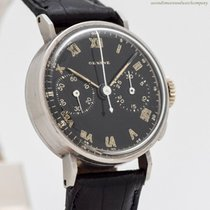Heuer Chronograph 28mm Manual winding 1950 pre-owned Black