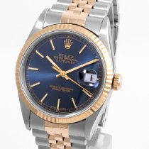 Rolex 36mm Automatik 1990 neu Datejust (Submodel) Blau