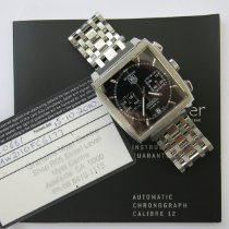 TAG Heuer Chronograph 39mm Automatic pre-owned Monaco Calibre 12 Black