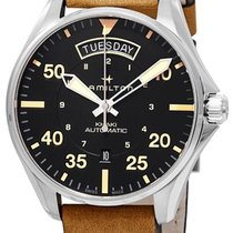 Hamilton Khaki Field Day Date Steel Arabic numerals United States of America, New York, Brooklyn