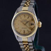 Rolex Oyster Perpetual Lady Date Acero y oro 26mm Champán Sin cifras España, Barcelona