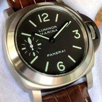 파네라이 루미노르 마리나 티타늄 44mm 갈색 아라비아 숫자