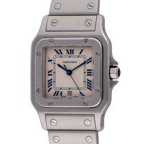 Cartier Santos Galbée pre-owned 29mm Silver Date