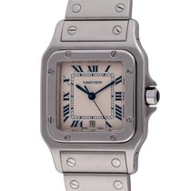 Cartier Santos Galbée pre-owned 29mm Silver Date