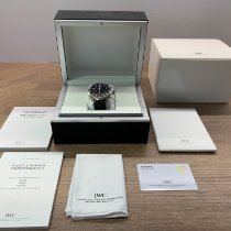 IWC pre-owned Automatic 43mm Black Sapphire Glass 6 ATM