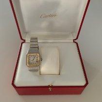 Cartier Santos Galbée Χρυσός / Ατσάλι 29mm Άσπρο Ρωμαϊκοί Ελλάδα, Holargos