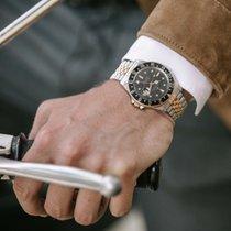 Rolex GMT-Master Gold/Stahl 40mm Schwarz Keine Ziffern Schweiz, Ascona