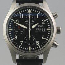 IWC Pilot Chronograph Stål 42mm Sort Arabertal Danmark, Horsens
