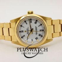 Rolex Or jaune Remontage automatique Blanc 31mm occasion Oyster Perpetual 31