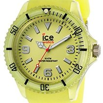 Ice Watch Plastic Quartz Yellow Arabic numerals 40mm new