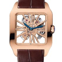 Cartier Rose gold Automatic Silver new Santos Dumont
