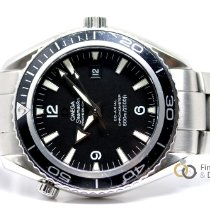 Omega Seamaster Planet Ocean Stahl Schwarz Arabisch