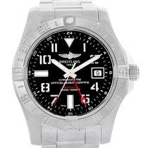 Breitling Aeromarine Avenger Ii Gmt Black Dial Watch A32390...