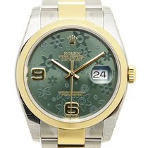 勞力士 Datejust Gold And Steel Green Automatic 116203GREENFLO_O