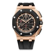 愛彼 Royal Oak Offshore Chronograph Rose Gold Black Dial 44mm