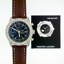 百年靈 Navitimer World 新的 46mm 鋼
