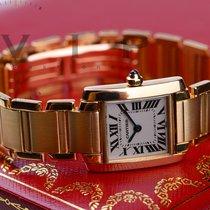Cartier Tank Française gebraucht 20,3mm Gelbgold