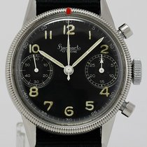 Hanhart Chronograph Manual winding 1950 pre-owned Black