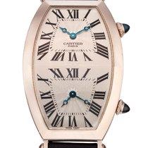 Cartier , 18K TWO TIME ZONE TONNEAU WATCH, REF. 2806 H