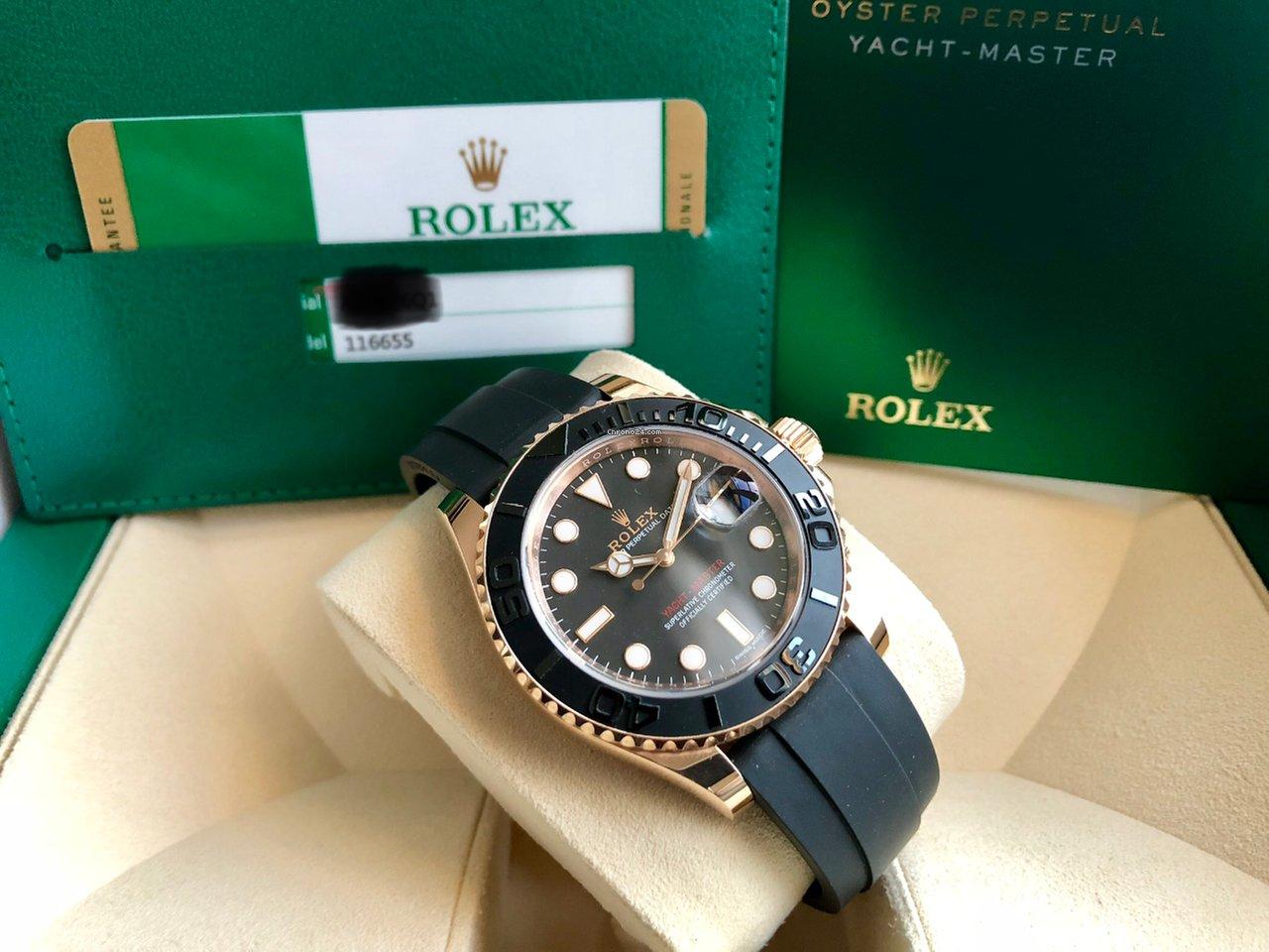 248647c13f7 Rolex Yacht-Master 116655 40mm 18k Everose Box Papers TOP por 17.849 € para  vender por um Trusted Seller na Chrono24