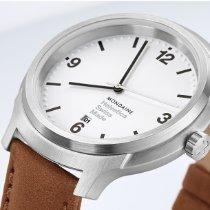 Mondaine Helvetica MH1.B1210.LG Mondaine Helvetica No01 Bold Bianco 43mm 2020 neu