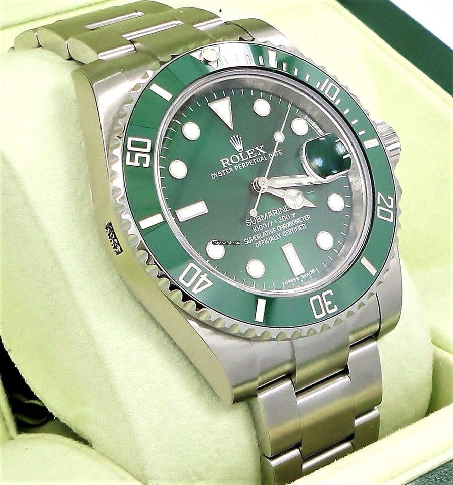 58bfdc2c998 Rolex Submariner Hulk 116610lv Green Dial   Ceramic Bezel B P NEW for  £11