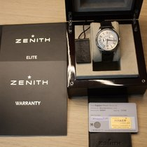 Zenith Captain Power Reserve pre-owned 40mm White Date Weekday Crocodile skin