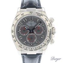 Rolex Daytona Witgoud 40mm Grijs Arabisch Nederland, Maastricht