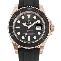 Rolex Red gold Automatic Black No numerals 40mm pre-owned Yacht-Master 40