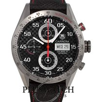 TAG Heuer Carrera Calibre 16 Titanium 43mm Black Arabic numerals