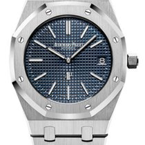 Audemars Piguet Royal Oak Jumbo Stål 39mm Blå Inga siffror