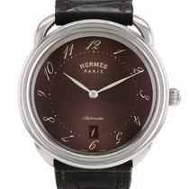 Hermès Arceau Stahl 41mm Braun Arabisch