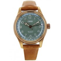 Oris Big Crown Pointer Date pre-owned 36mm Green Date Leather