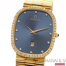 Eterna Yellow gold Quartz Blue No numerals 27mm pre-owned