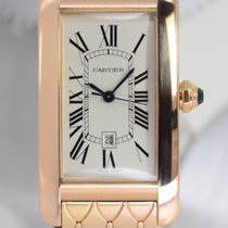 Cartier Tank Américaine Rose gold 23mm Silver Roman numerals