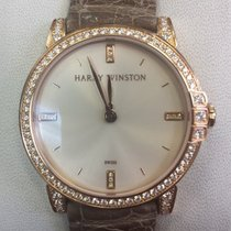 Harry Winston Midnight Rose gold 32mmmm Champagne