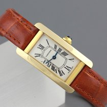 Cartier Tank Americaine 18K Gold Damenuhr Referenz 2482