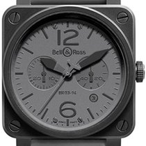 Bell & Ross BR 03-94 Chronographe new Automatic Chronograph Watch with original box and original papers BR03-94Commando