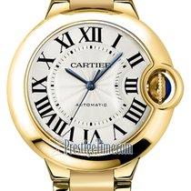 Cartier Жёлтое золото Автоподзавод Cеребро 33mm новые Ballon Bleu 33mm