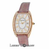 Tourneau Authentic Ladies 18K Rose Gold Diamond MOP Quartz 26MM
