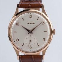 Zenith Rose gold Manual winding Silver Roman numerals 37mm pre-owned