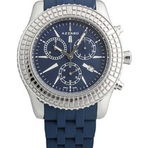 Azzaro Chronograph 41mm Quarz 2017 neu Blau