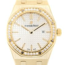 愛彼 (Audemars Piguet) Royal Oak 18 K Yellow Gold Silver Quartz...