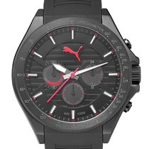 Puma PU104021001 Black Red Chrono 46mm 10ATM