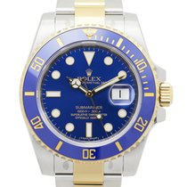 勞力士 Submariner(date) Gold And Steel Blue Automatic 116613LB