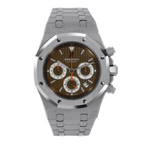 Audemars Piguet AP Royal Oak 39mm Chronograph Steel Brown Dial...