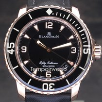 Blancpain Fifty Fathoms Rose gold 45mm Black United Kingdom, London, Paris or Brussels face to face only - Other countries shipping with Brinks & DHL Express