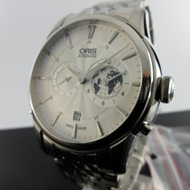Oris Artelier Worldtimer Steel 42mm Silver No numerals